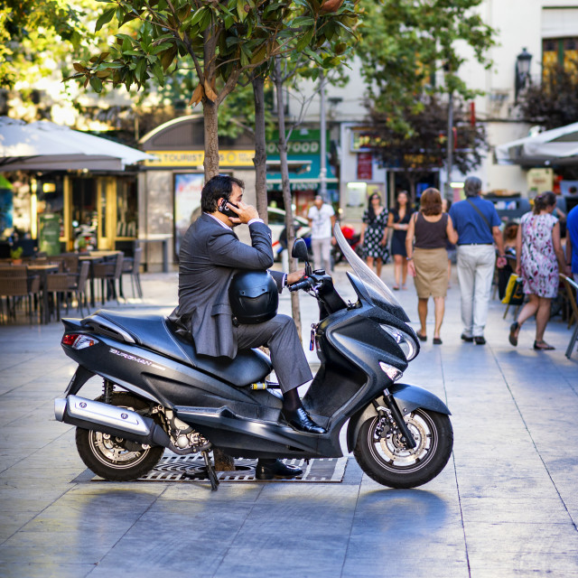 """Business Man -Madrid Style"" stock image"