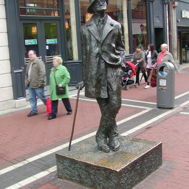 """author Jamas Joyce;s statue in Dublin"" stock image"