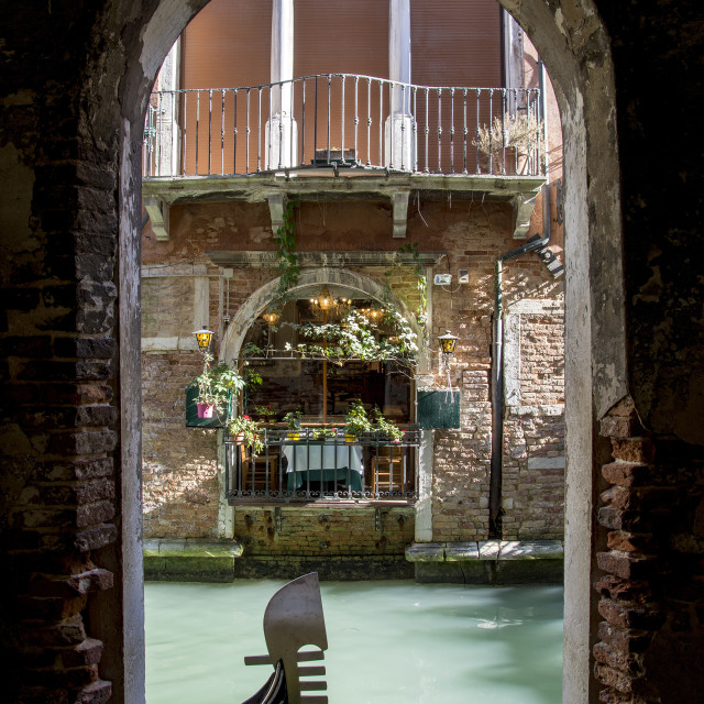 """Gondola in Venice"" stock image"