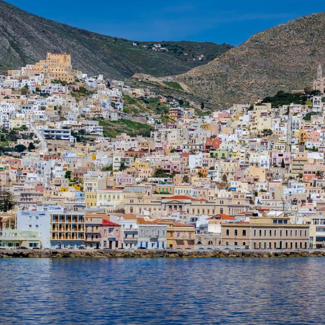 """Ermoupoli Syros island"" stock image"