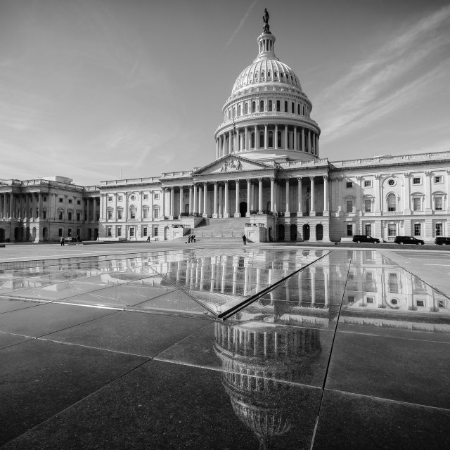 """Reflections at Capitol Hill"" stock image"