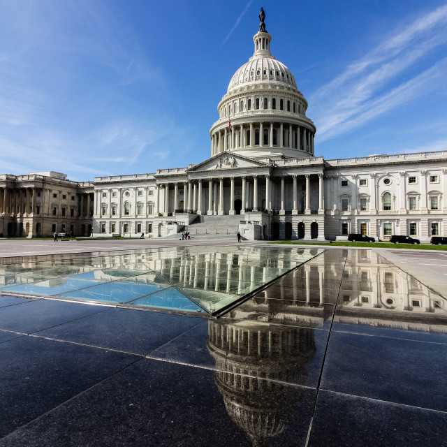 """Reflections at Capitol Hill (full colour)"" stock image"