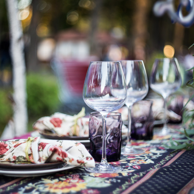 """Wedding table setting"" stock image"