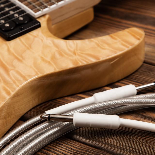"""Modern electric guitar"" stock image"
