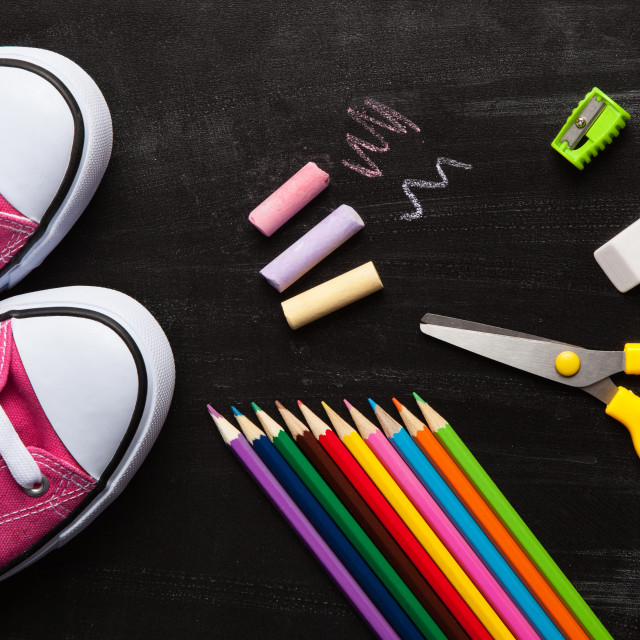 """School and office accessories"" stock image"