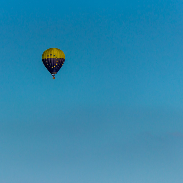 """""""Hot-Air Balloon in the sky"""" stock image"""