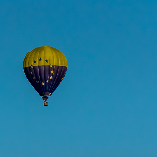 """""""Euro Hot-Air Balloon"""" stock image"""