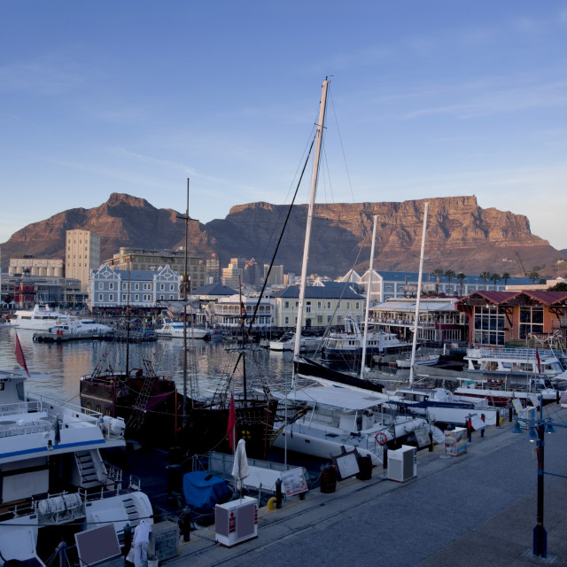 """View from Waterfront to Cape Town City"" stock image"