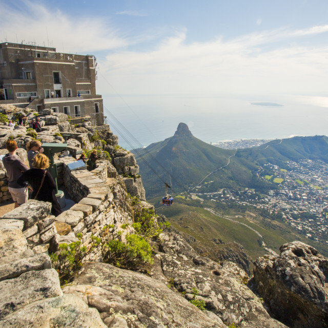 """The Cable Way on Table Mountain"" stock image"
