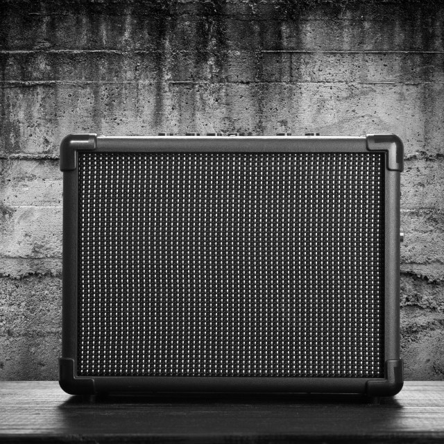 """Guitar amplifier"" stock image"