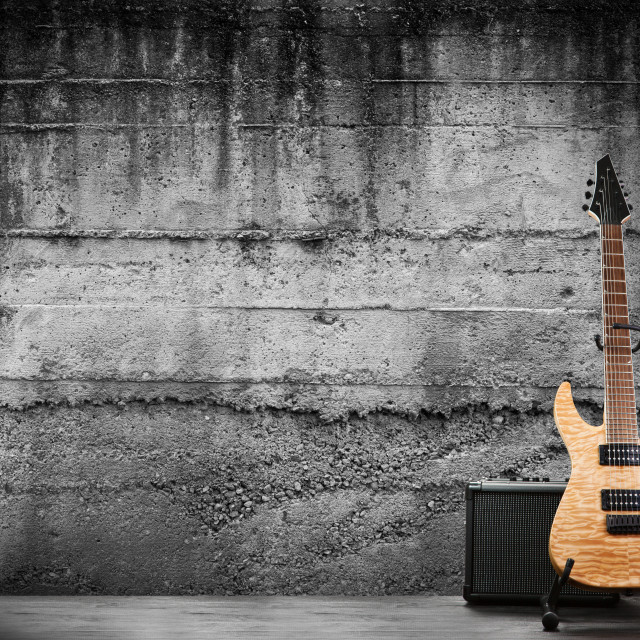 """Modern electric guitar"" stock image"