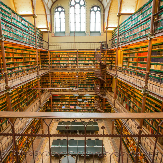 """Old library of Rijksmuseum"" stock image"