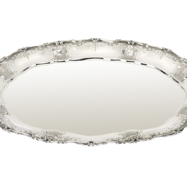 """silver tray"" stock image"