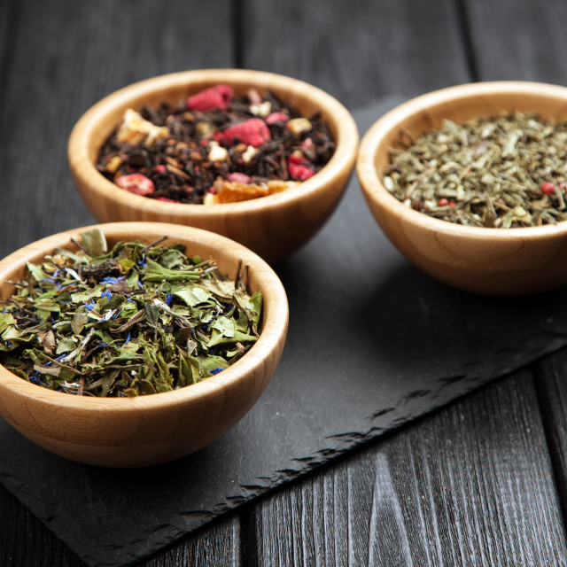 """Assortment of tea"" stock image"
