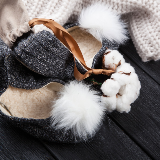 """Cozy home slippers"" stock image"
