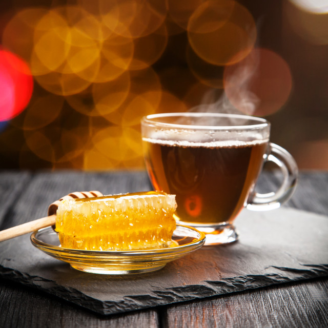 """Tea and honey"" stock image"