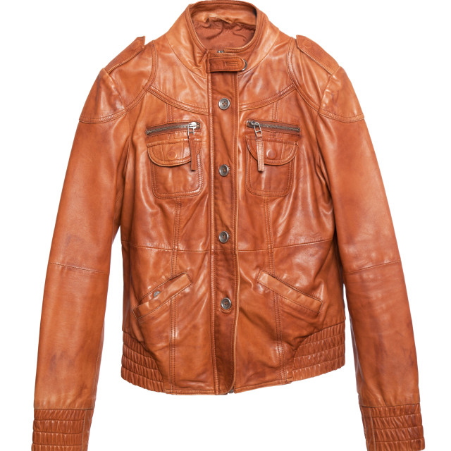 """Stylish leather jacket"" stock image"