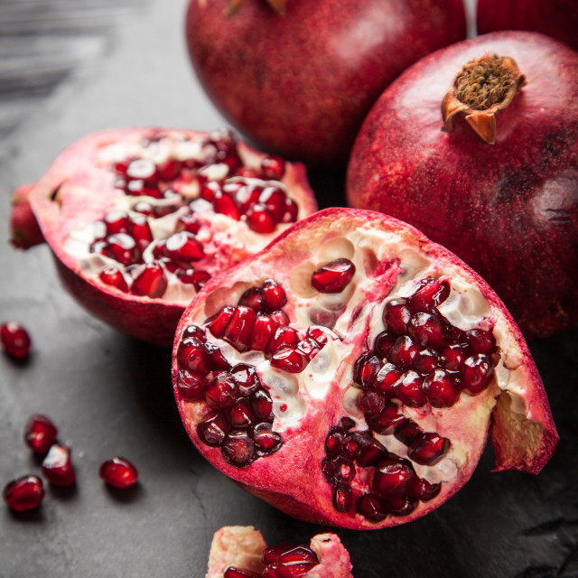 """Red juice pomegranate"" stock image"