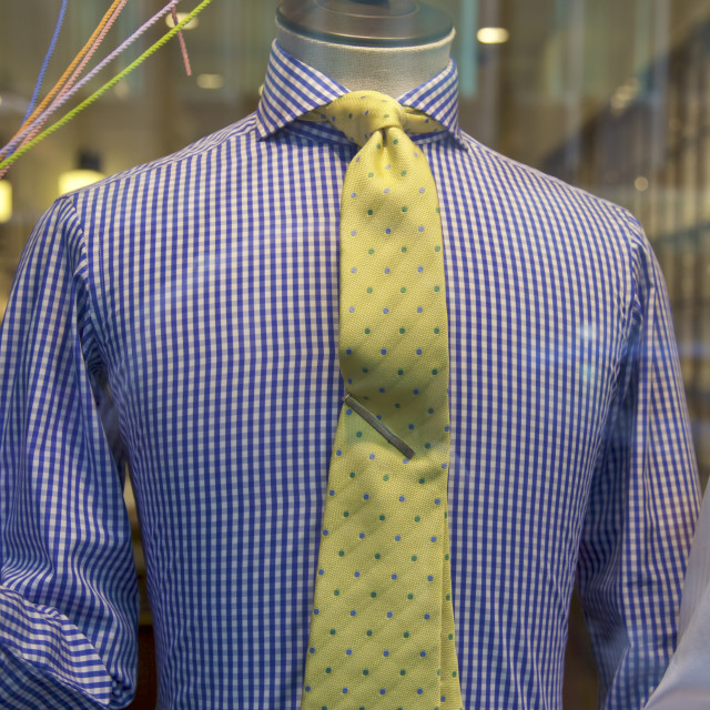 """Clothing store, shirt and tie, NYC"" stock image"