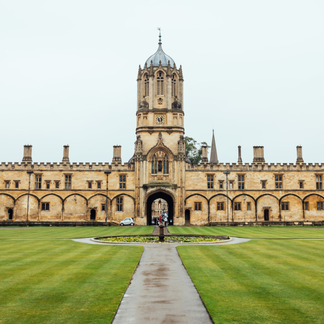 """College in Oxford"" stock image"