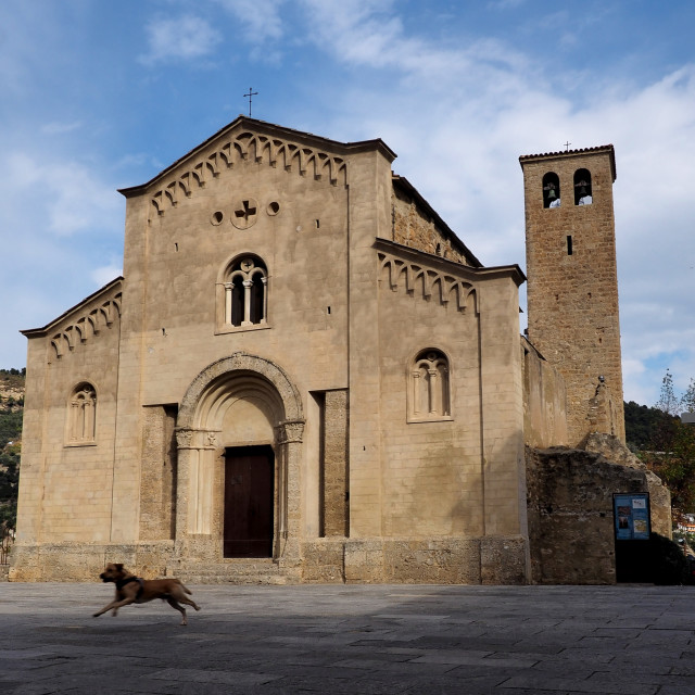"""St michael's church Ventimiglia old town, Italy"" stock image"