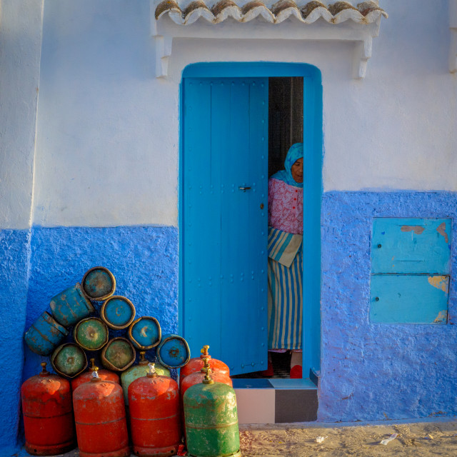 """Chefchaouen Door"" stock image"