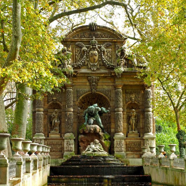 """The Medici Fountain"" stock image"