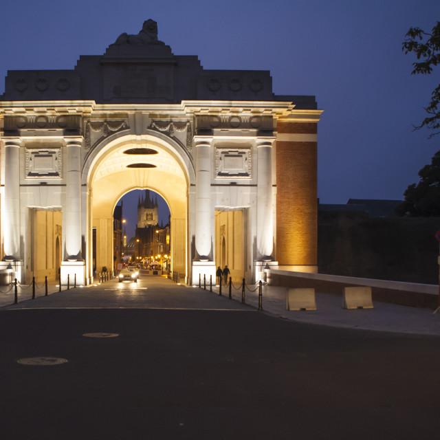 """Menin Gate, Ypres"" stock image"