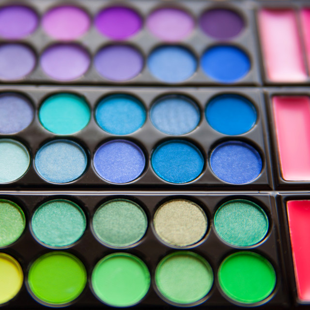 """Bright eyeshadow palette"" stock image"