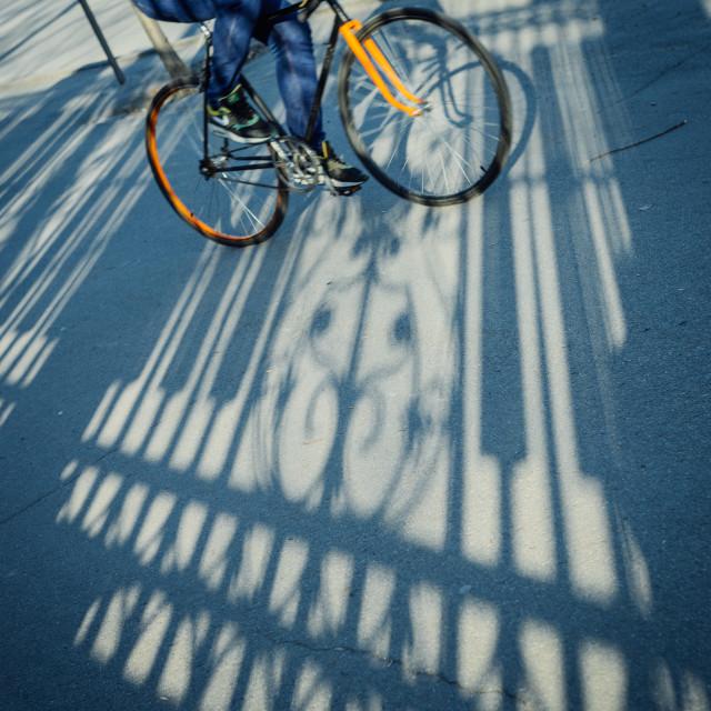 """""""Bicycle shadow"""" stock image"""