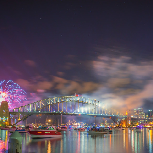 """Sydney New Year Eve Fireworks Show"" stock image"