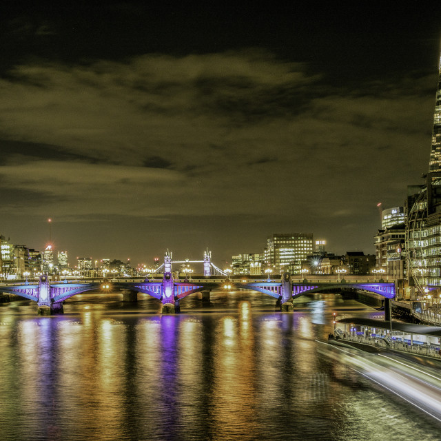 """Thames Nightscape 2"" stock image"