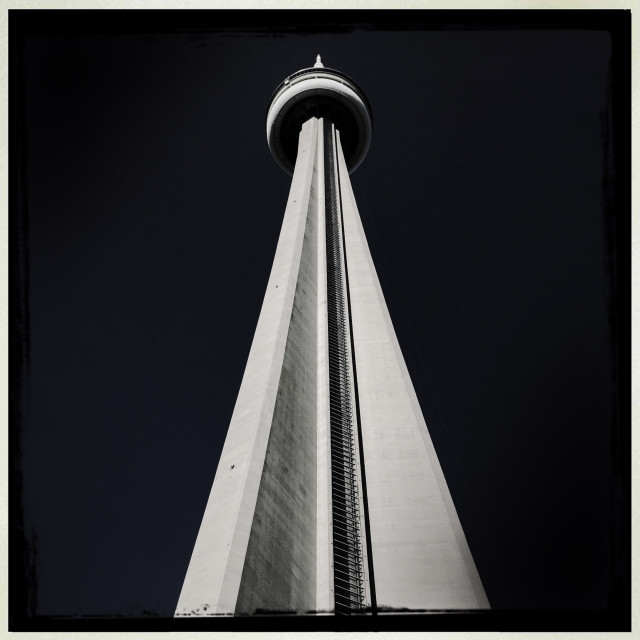 """""""CN Tower in Monochrome"""" stock image"""