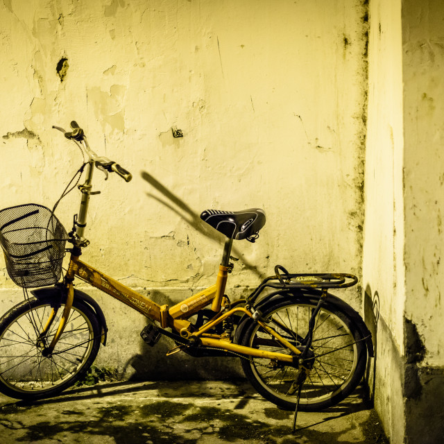 """Abandoned bike"" stock image"