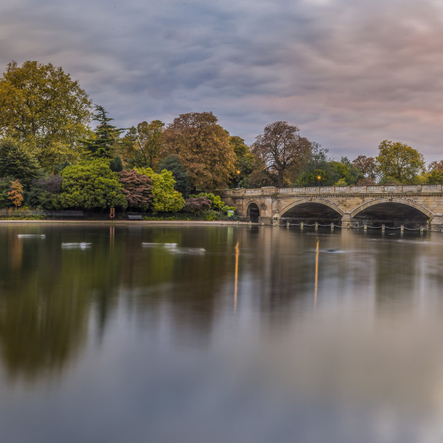 """""""View Of The Serpentine In Autumn"""" stock image"""