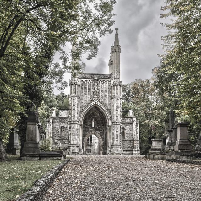 """Nunhead Cemetery Chapel"" stock image"
