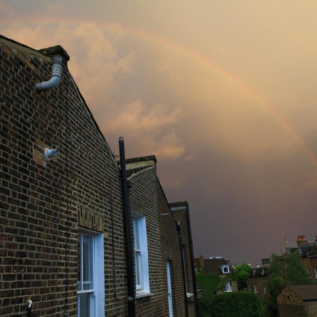 """Urban rainbow"" stock image"