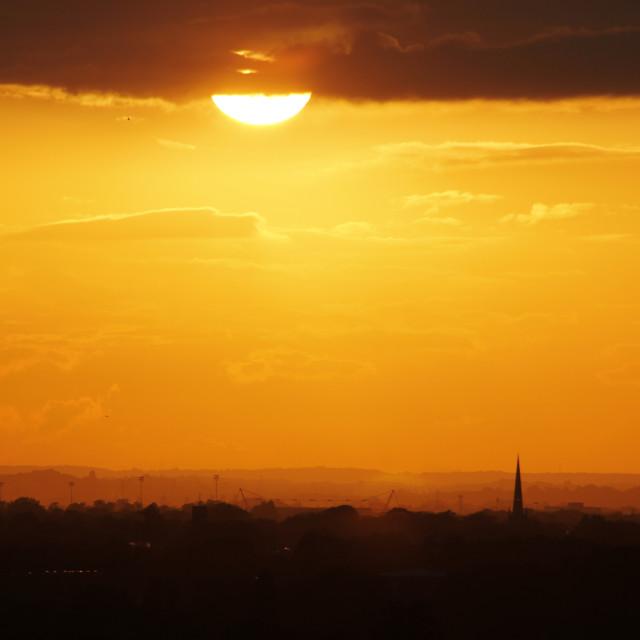"""A London Sunset"" stock image"