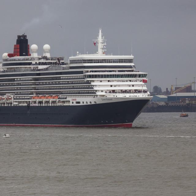 """""""Queen Elizabeth Cruise Liner"""" stock image"""