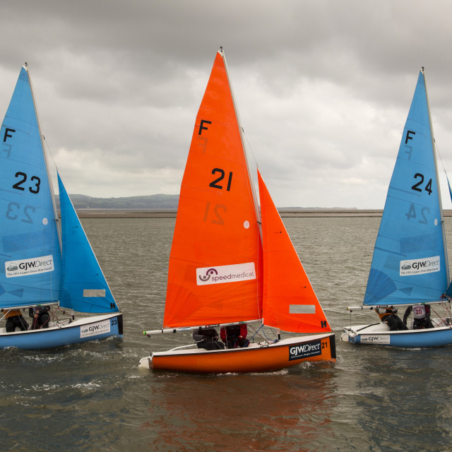 """Synchronised Sailing"" stock image"