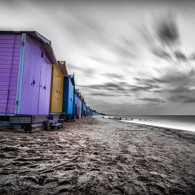 """""""Autumn Sets In On Walton Seafront"""" stock image"""
