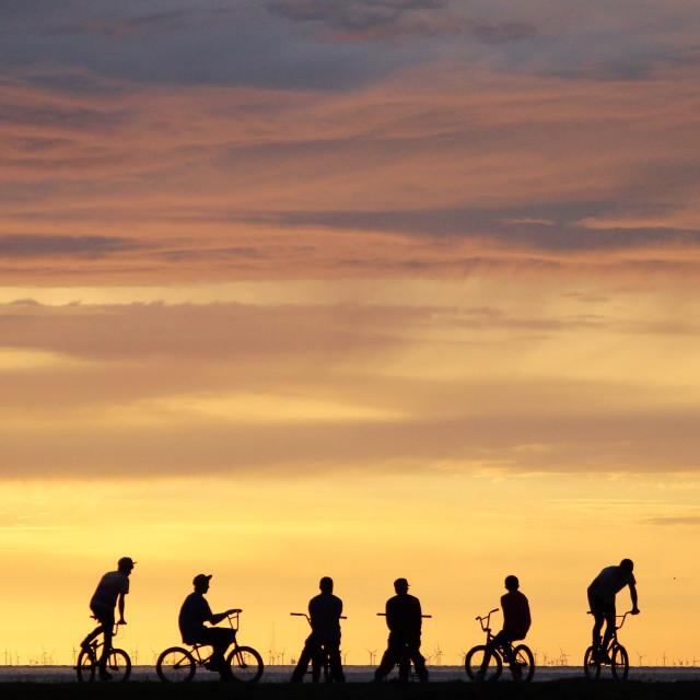 """BMX Sunset"" stock image"