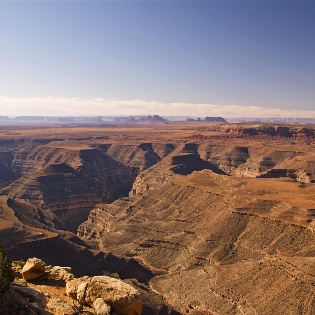 """""""View from Muley Point"""" stock image"""