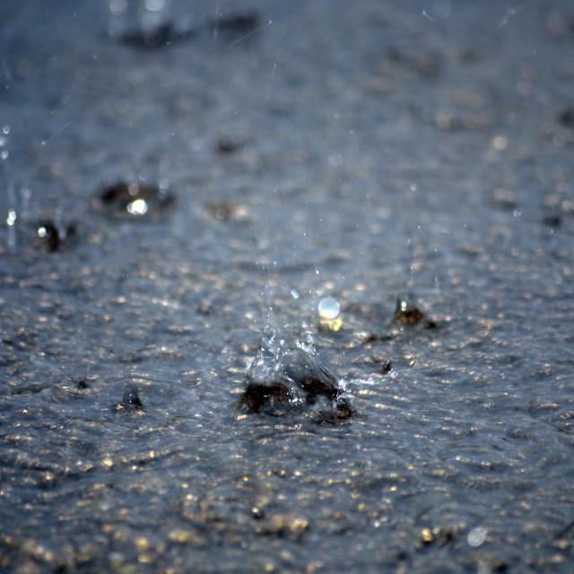 """torrential rain on the tarmac"" stock image"