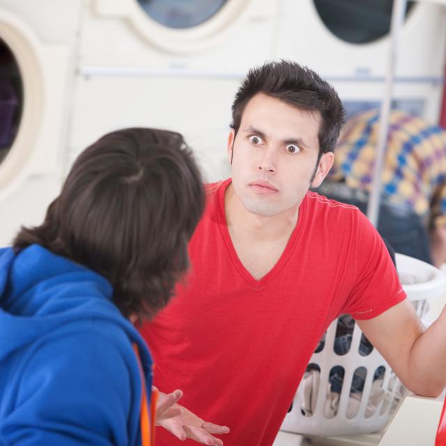 """Laundromat Argument"" stock image"