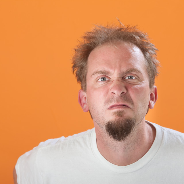 """""""Pissed-off Man"""" stock image"""
