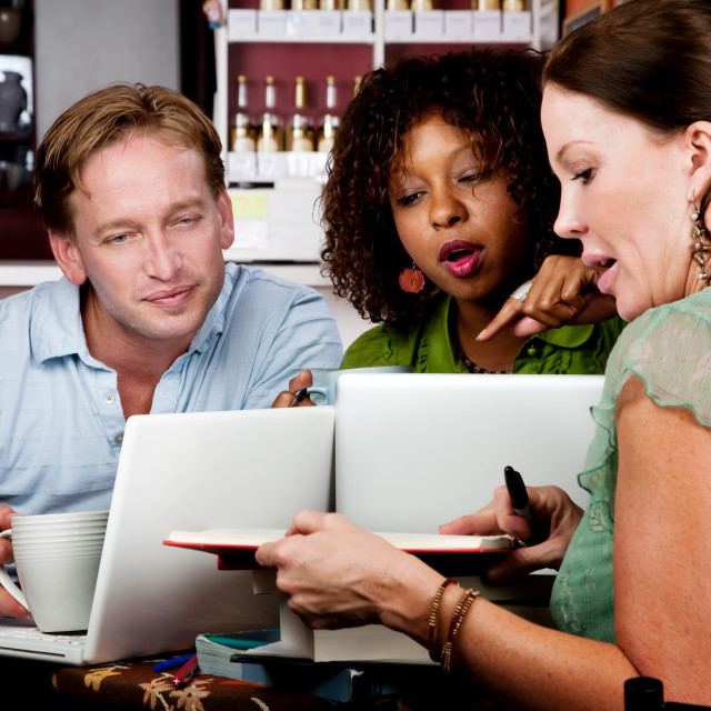 """""""Diverse adult study group"""" stock image"""