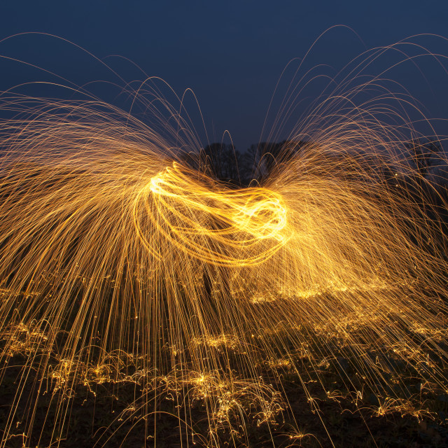 """Wire Wool Sparks!!"" stock image"