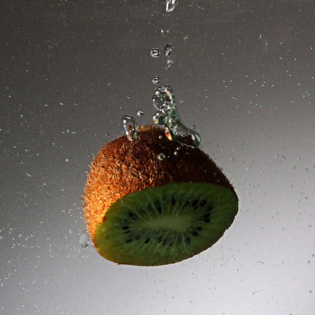 """Kiwi in water"" stock image"