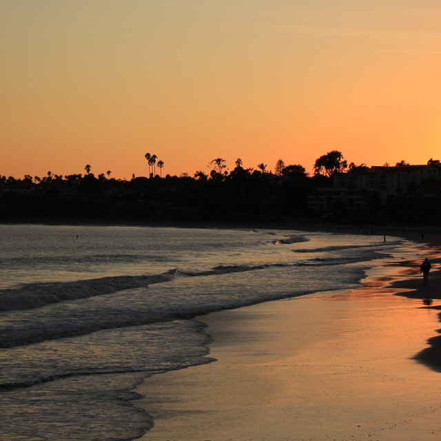 """Santa Barbara Sunset"" stock image"